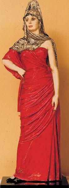 figura femminile con mantiglia
