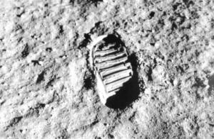 primo passo sulla luna